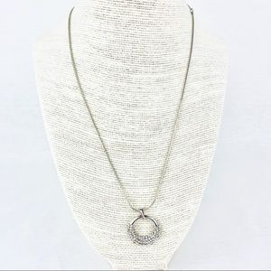 Jewelry - Silver Sparkly Infinity Circle Necklace
